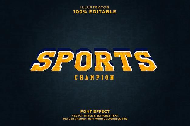 Efeito de texto do esporte