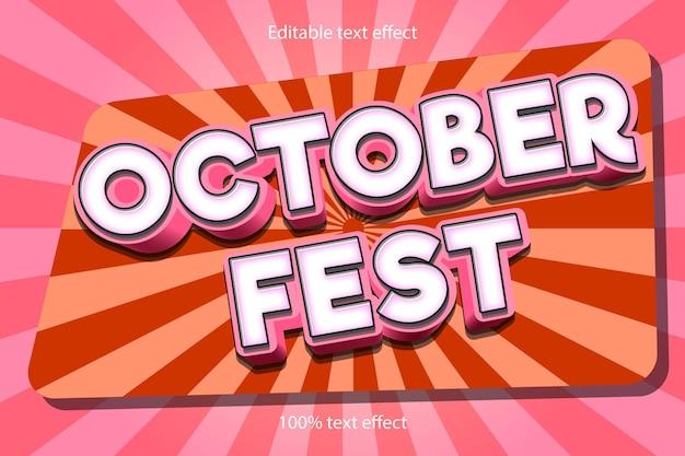 Efeito de texto do festival de outubro