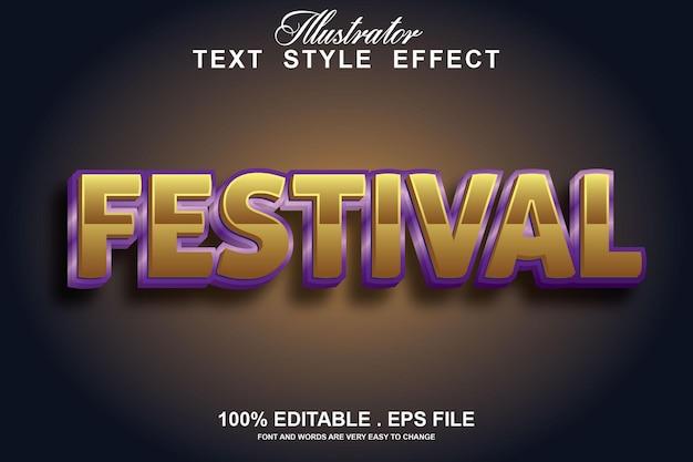 Efeito de texto do festival editável