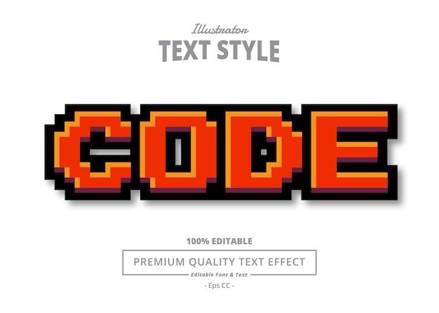 Efeito de texto do ilustrador de código