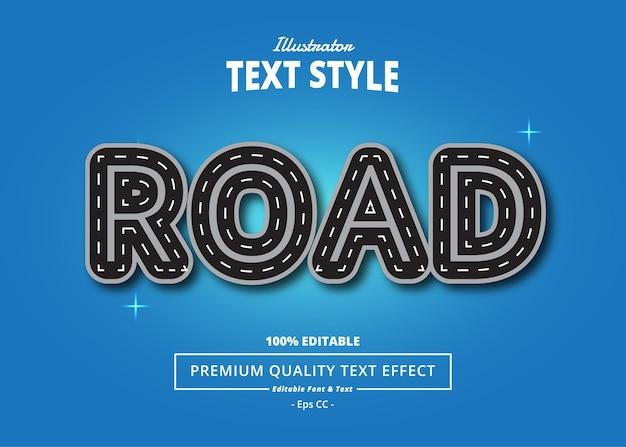 Efeito de texto do ilustrador de estrada