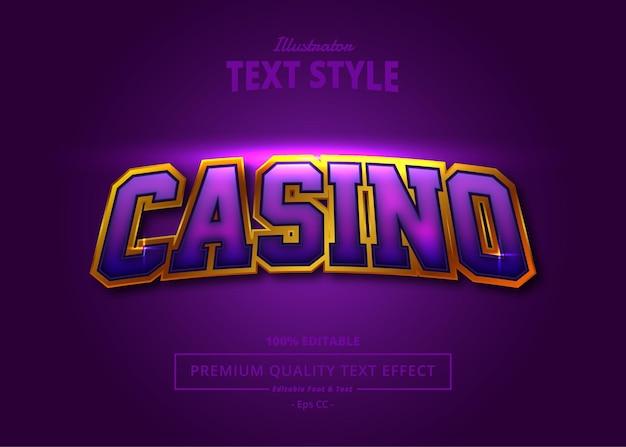 Efeito de texto do ilustrador do casino