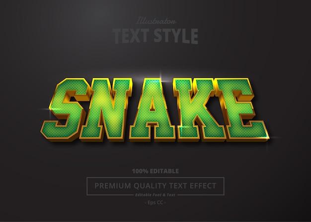Efeito de texto do ilustrador snake