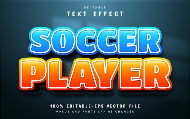 Efeito de texto do jogador de futebol editável