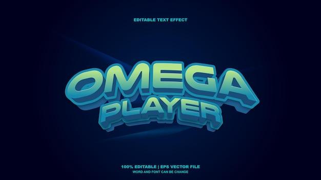 Efeito de texto do jogador omega