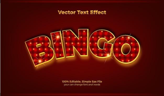 Efeito de texto do jogo de bingo retrô