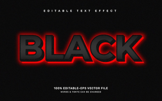 Efeito de texto do mês da história negra