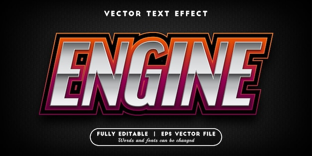 Efeito de texto do motor com estilo de texto editável