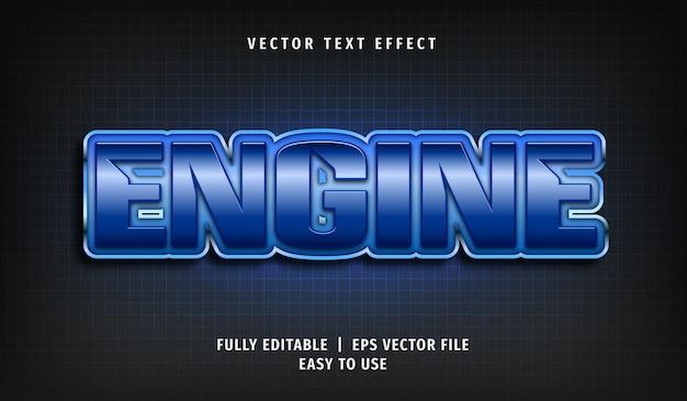 Efeito de texto do motor, estilo de texto editável