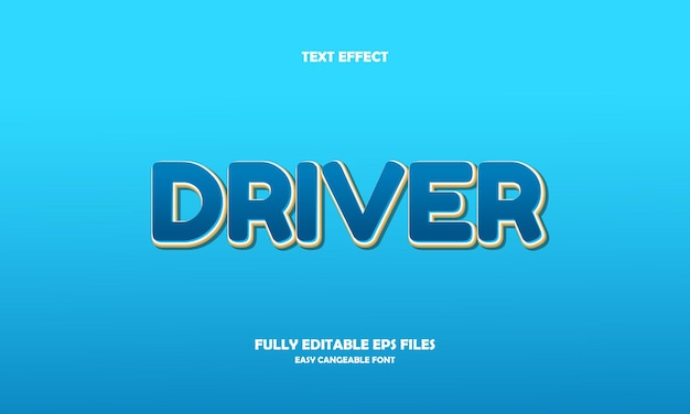 Efeito de texto do motorista