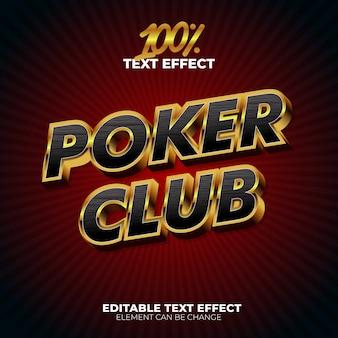 Efeito de texto do poker club