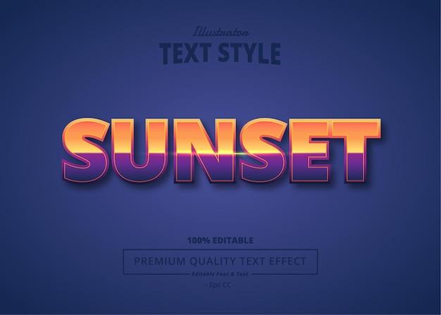 Efeito de texto do pôr do sol