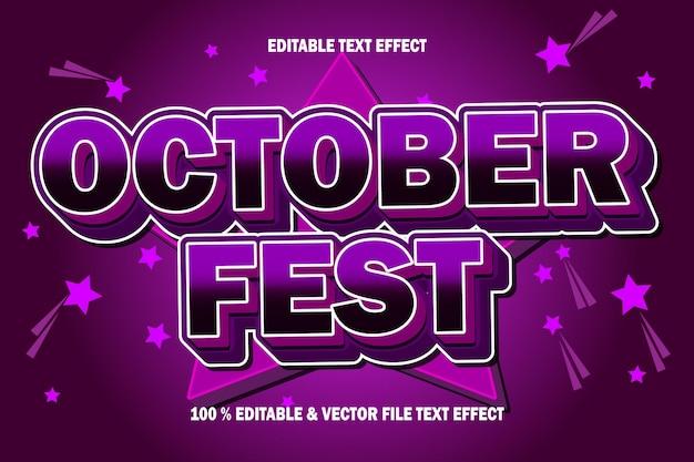 Efeito de texto do punho de outubro