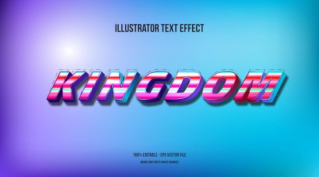 Efeito de texto do reino dos anos 90