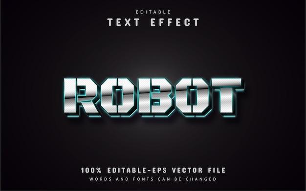 Efeito de texto do robô