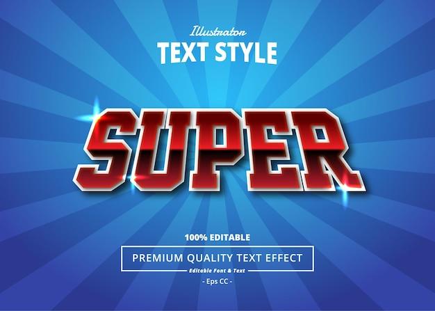 Efeito de texto do super ilustrador