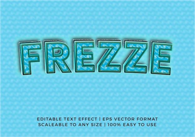 Efeito de texto do título creative ice freeze