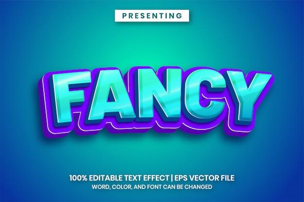 Efeito de texto do título do jogo chique