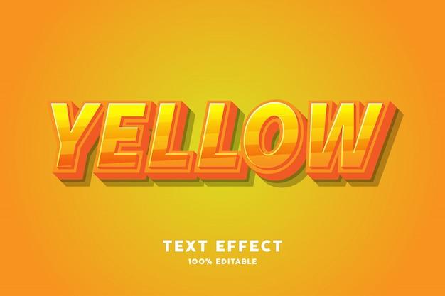 Efeito de texto doce amarelo fresco