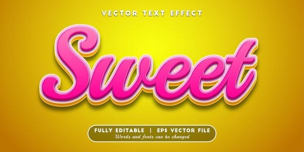 Efeito de texto doce, estilo de texto 3d
