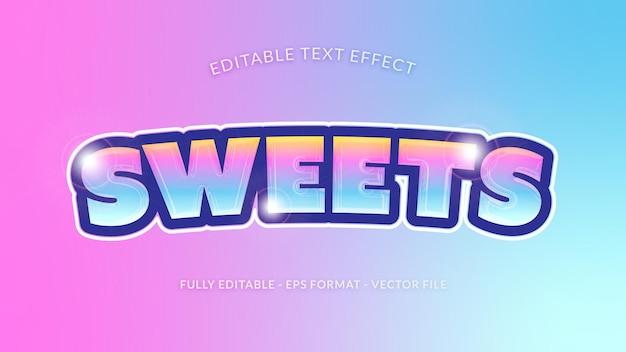 Efeito de texto doces