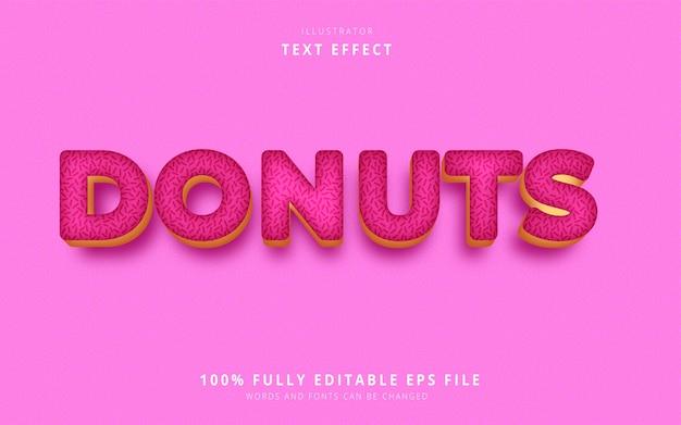 Efeito de texto donuts