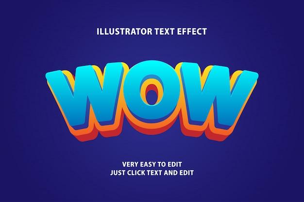 Efeito de texto dos desenhos animados 3d, texto editável