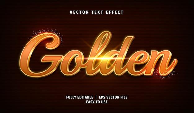 Efeito de texto dourado 3d, estilo de texto editável