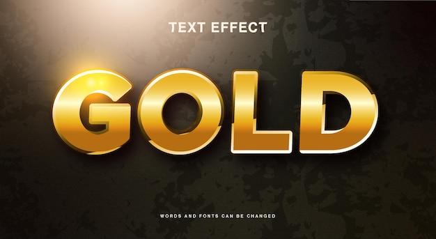 Efeito de texto dourado brilhante