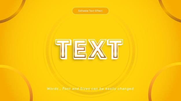 Efeito de texto dourado criativo, efeito de texto editável, vetor de estilo de texto de luxo dourado