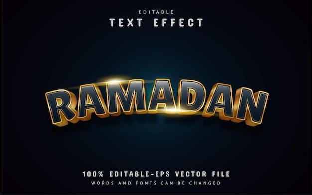 Efeito de texto dourado do ramadã