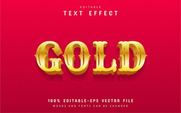 Efeito de texto dourado editável
