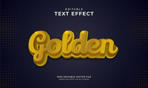 Efeito de texto dourado em fundo escuro
