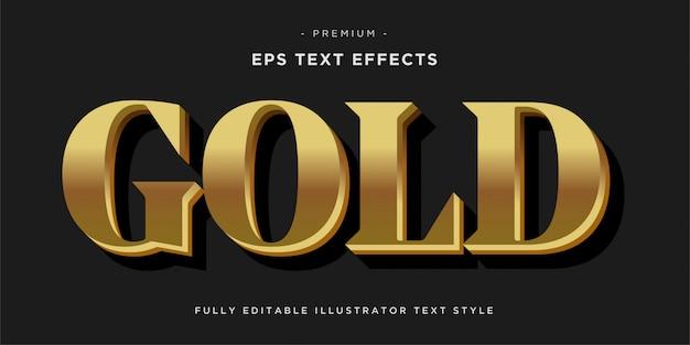 Efeito de texto dourado - estilo de texto.