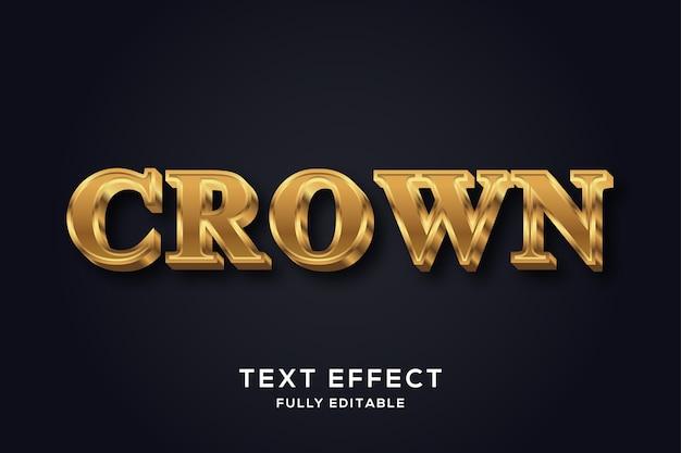 Efeito de texto dourado luxo