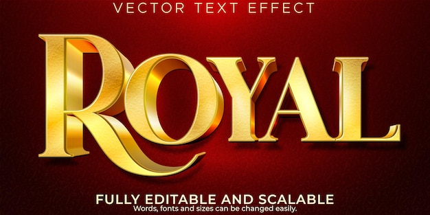 Efeito de texto dourado luxuoso, estilo de texto editável brilhante e elegante