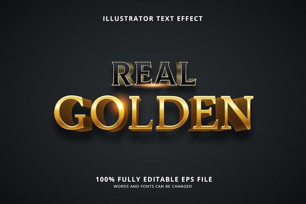 Efeito de texto dourado real