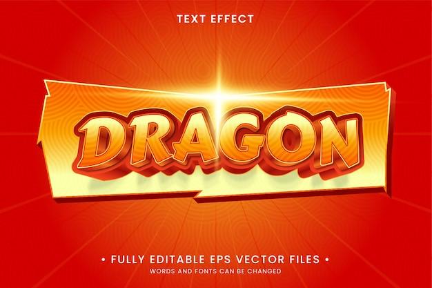 Efeito de texto dragão