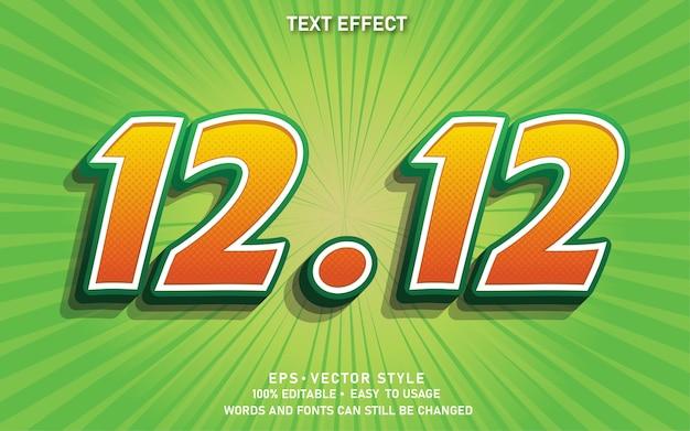 Efeito de texto editável 12.12 venda