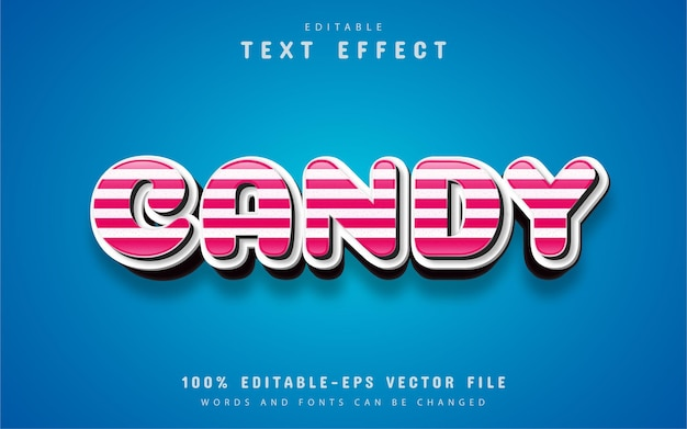 Efeito de texto editável 3d candy