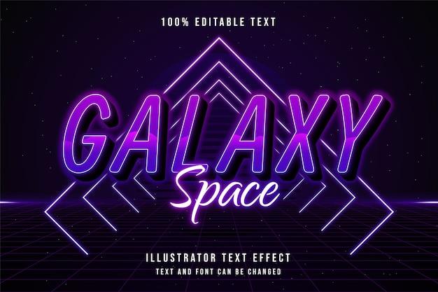 Efeito de texto editável 3d com gradação azul e estilo de texto neon roxo