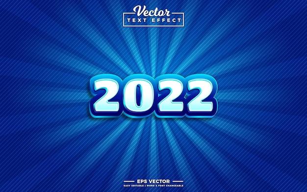 Efeito de texto editável 3d de 2022
