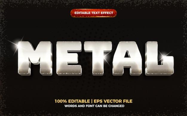Efeito de texto editável 3d de metal grunge