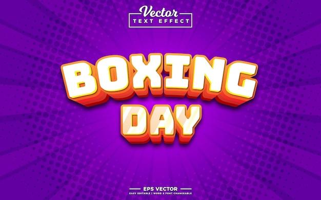 Efeito de texto editável 3d do boxing day