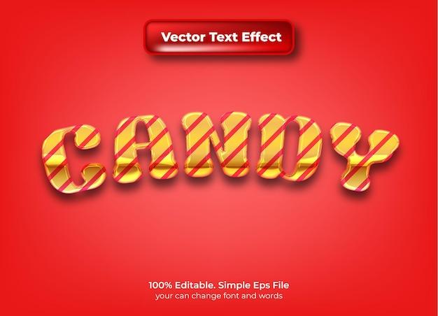 Efeito de texto editável 3d doce