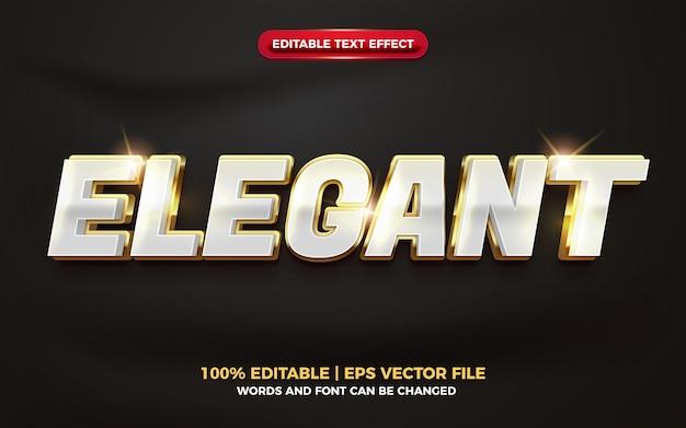 Efeito de texto editável 3d elegante em negrito dourado