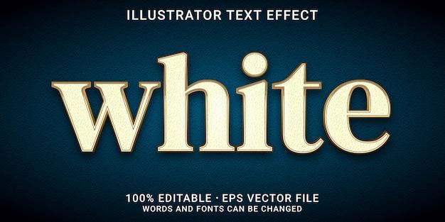 Efeito de texto editável 3d - estilo branco