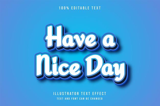 Efeito de texto editável 3d estilo fofo azul