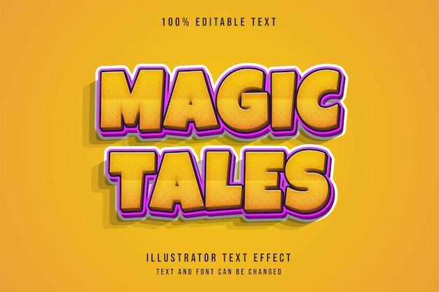 Efeito de texto editável 3d gradação amarela laranja roxo estilo de texto em quadrinhos