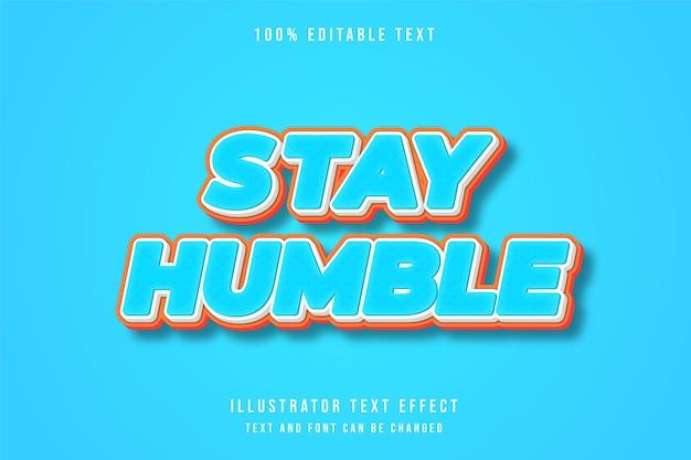 Efeito de texto editável 3d gradação azul laranja estilo cômico moderno
